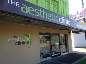 the aesthetic clinic sign