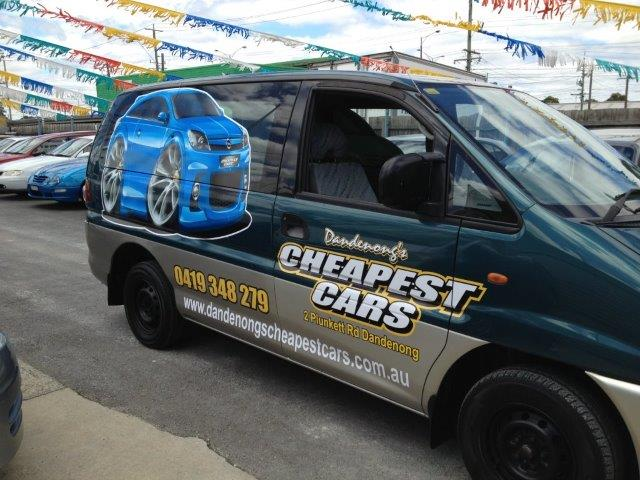 Cheapest cars wrap in their Dandenong location