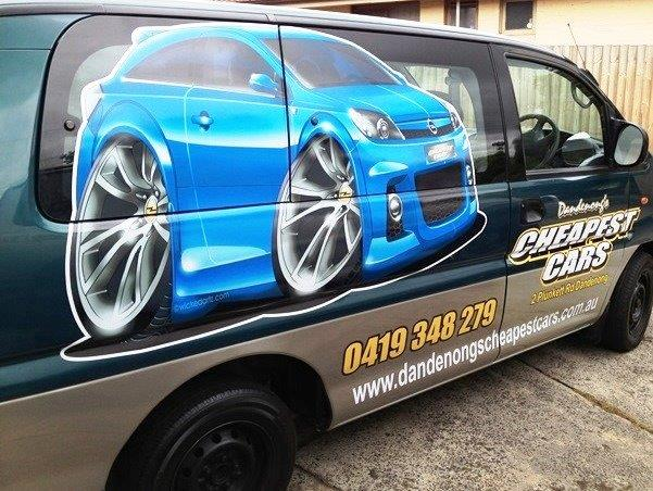 A digitally printed body wrap for Cheapest cars