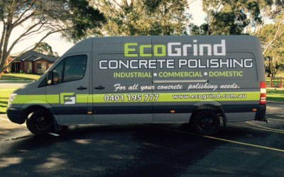 EcoGrind Concrete Polishing, Digitally printed full-body wrap, Melbourne