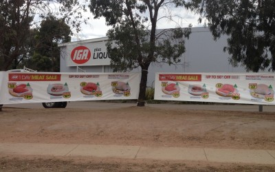 IGA; Independent Grocery Association, Banner signage, Narre Warren South