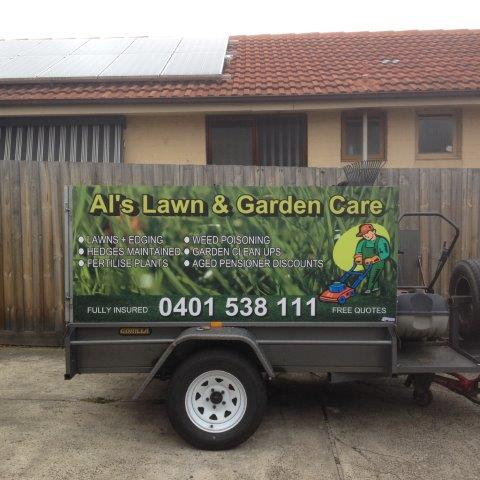 Al's Lawn & Garden Care design, he was very happy with the results