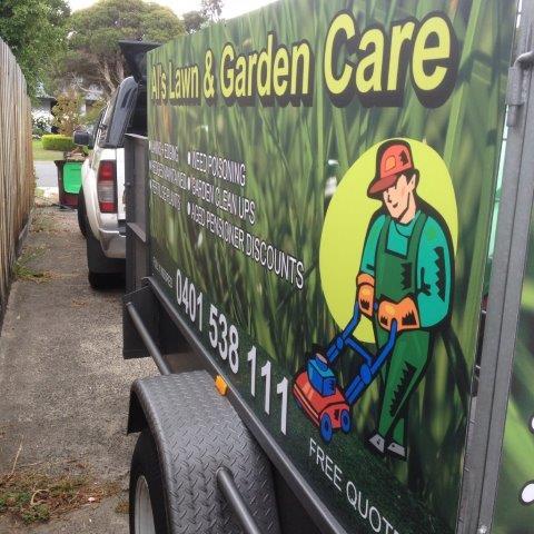 Al's Lawn & Garden Care side trailer