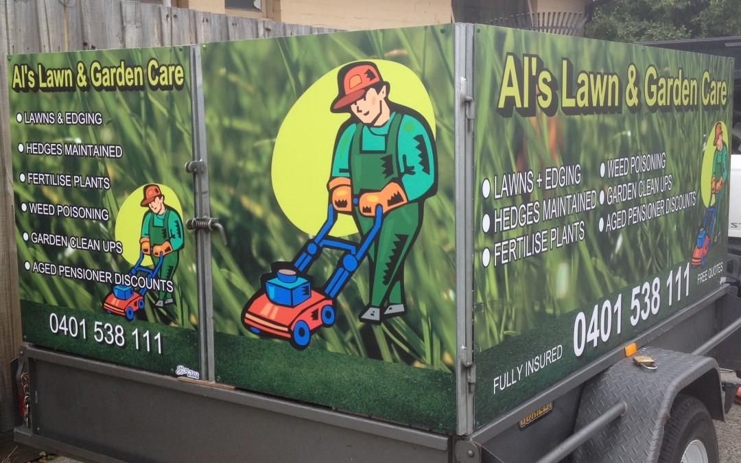 Al's Lawn & Garden Care, Digitally Printed media onto Aluminum, Melbourne