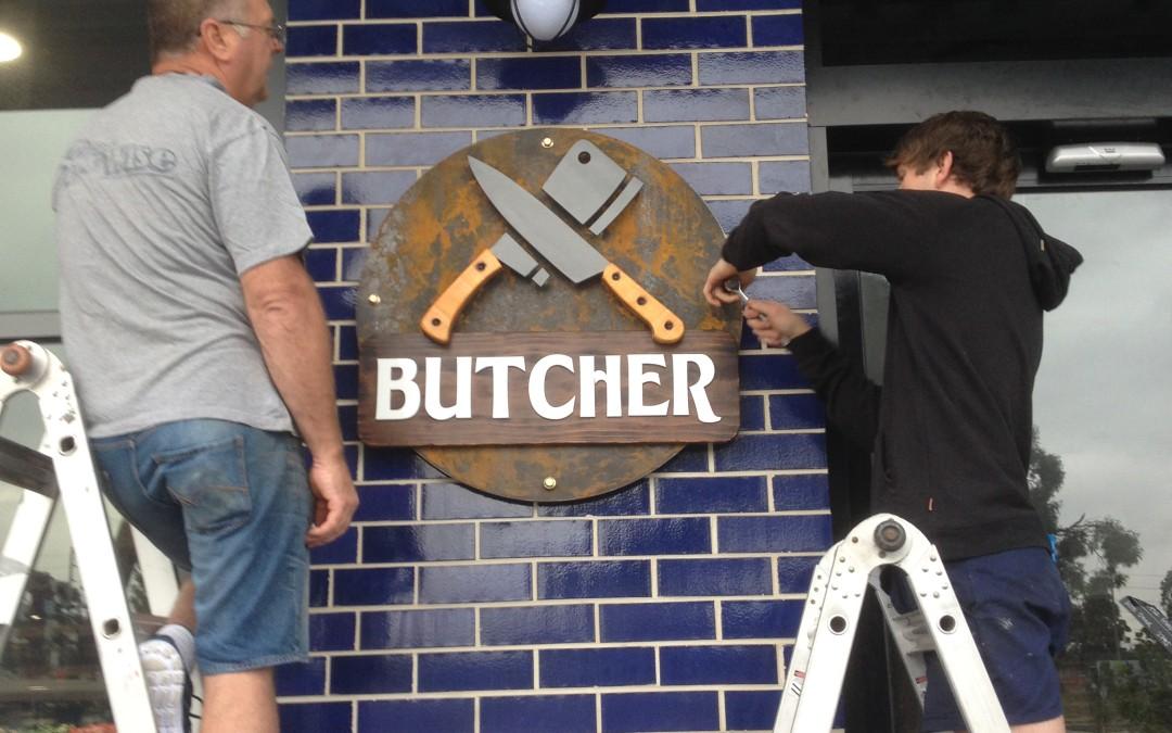 Butcher, Shopping center 3D signage, Dandenong east
