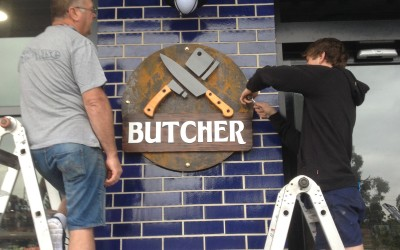 Butcher, Shopping center 3D signage, Dandenong east