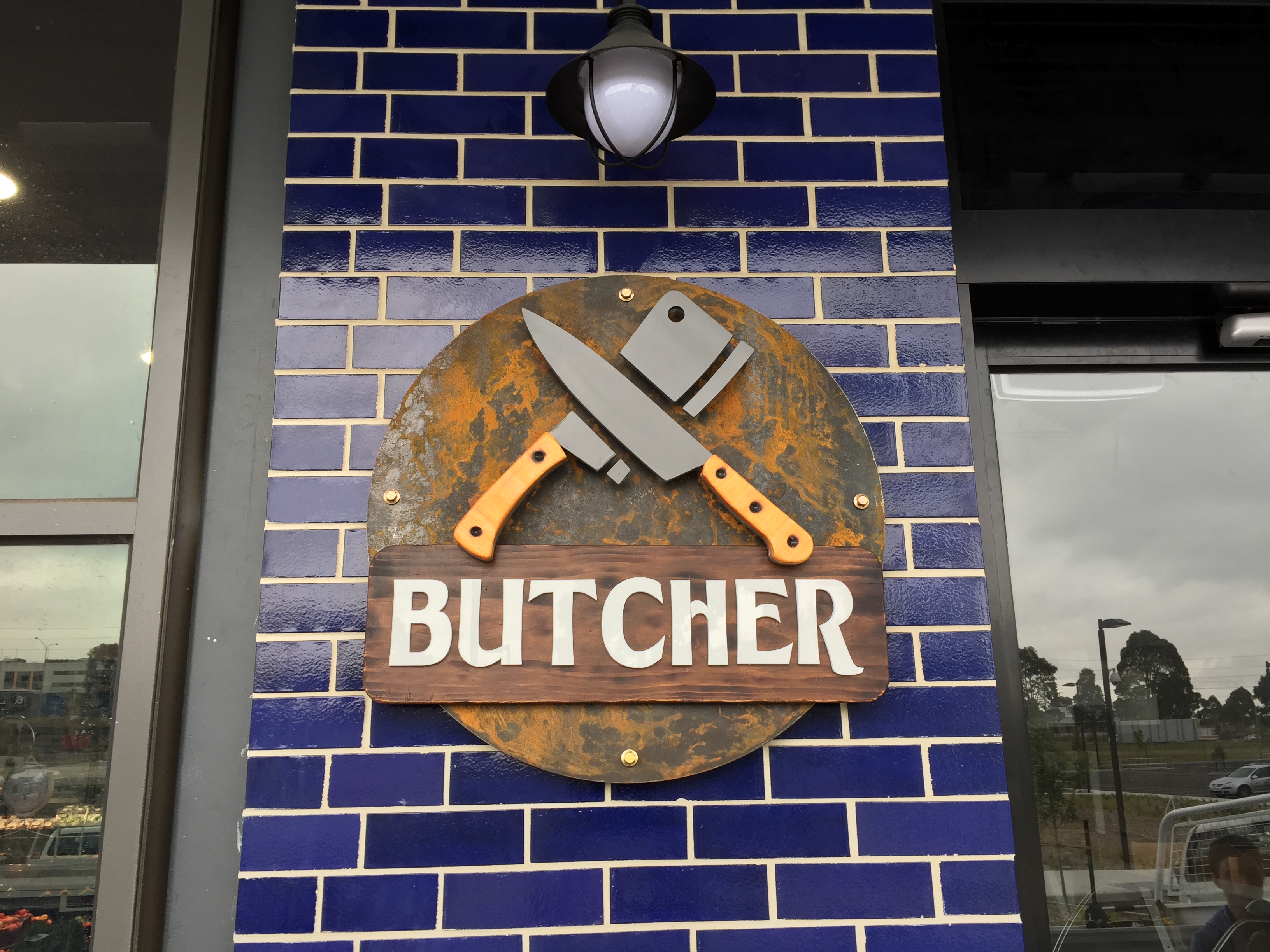 Butcher signage came out great, a lot of work went into this piece