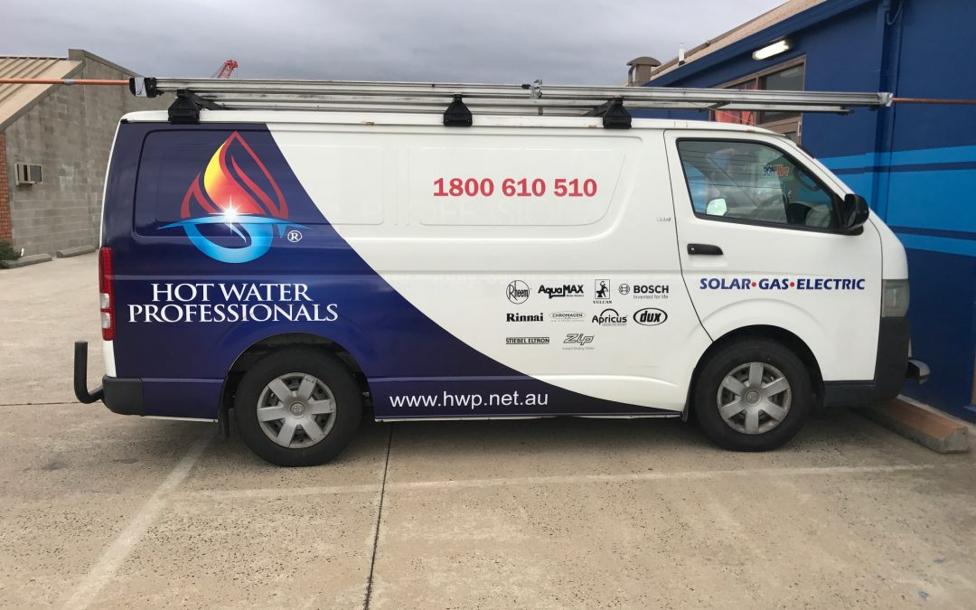 Melbourne Vehicle Signage – Hot Water Professionals